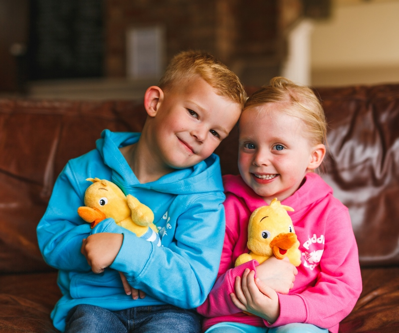 Puddle Ducks Kid's Hoodie & Cuddly Toy