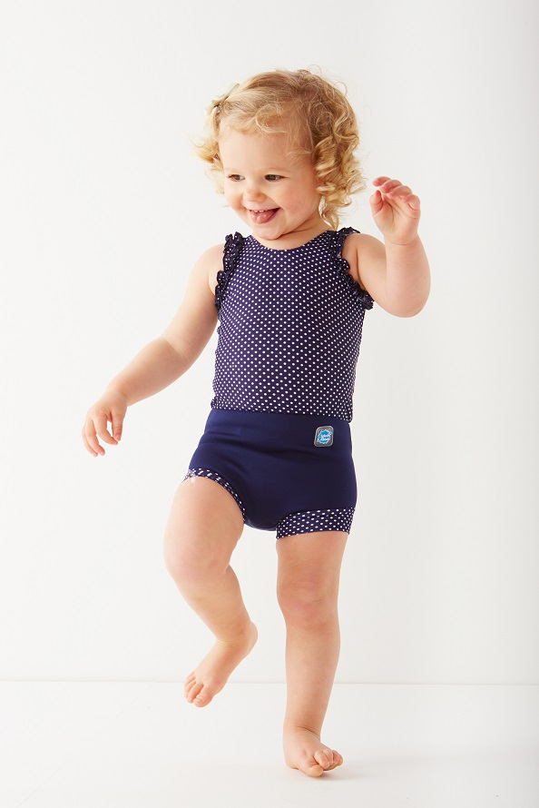 Spotty Happy Nappy Swimming Costume