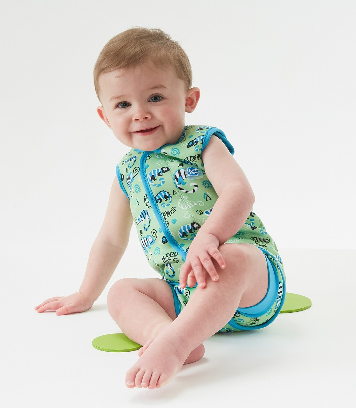 Baby Wrap Wetsuit - green gecko