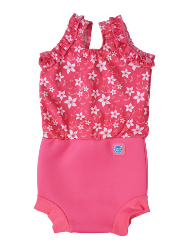 Flower Print Happy Nappy Swimming Costume