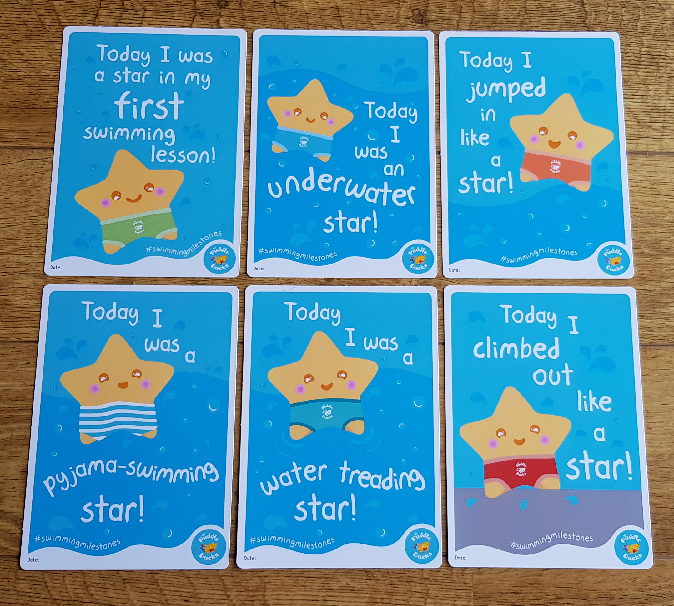 Puddle Ducks Milestone Cards