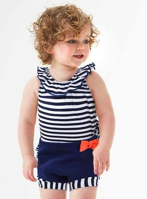 Nautical Swim Nappy Costume