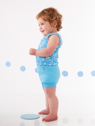 Blue Blossom Happy Nappy Swimming Costume