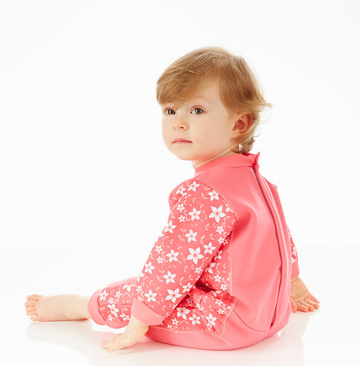 WarmInOne Baby Wetsuit - pink blossom