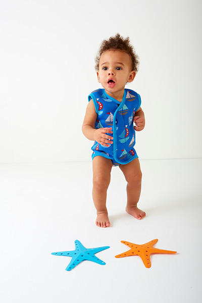 Baby Wrap Wetsuit - boat print