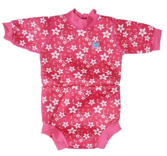 Happy Nappy Wetsuit - pink blossom